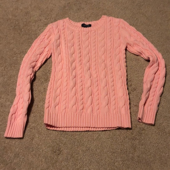 Lands' End Drifter cable cotton sweater size XS